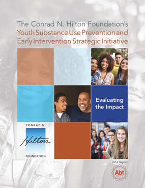 Substance Use Prevention Initiative: 2016 Evaluation Report, Year 2