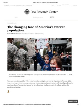 The Changing Face of America's Veteran Population