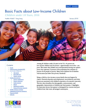 Basic Facts about Low-Income Children: Children under 18 Years, 2016