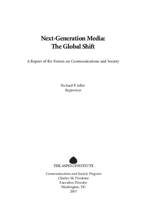 Next-Generation Media: The Global Shift