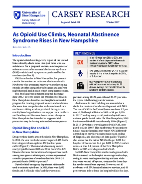 As Opioid Use Climbs, Neonatal Abstinence Syndrome Rises in New Hampshire